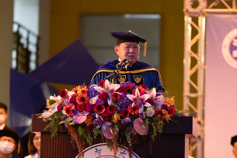 Chairman Douglas Hsu expects YZU students to reposition themselves