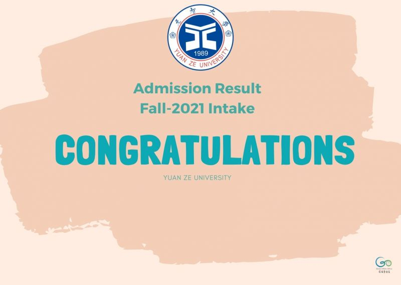 Admission Result of 2021 Fall Intake