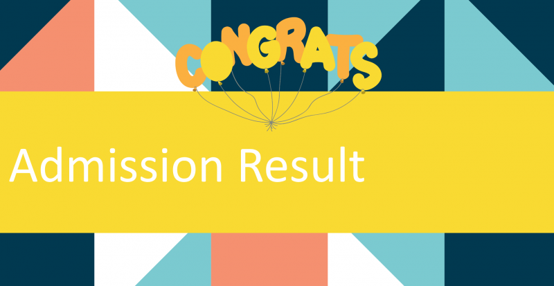 Admission Result of 2021 Fall Intake(Early Session)
