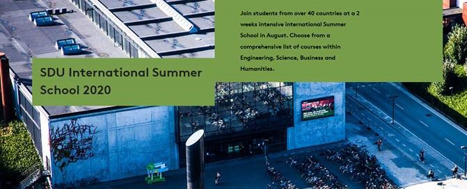 University of Southern Denmark - application now open for SDU International Summer School and semester exchanges